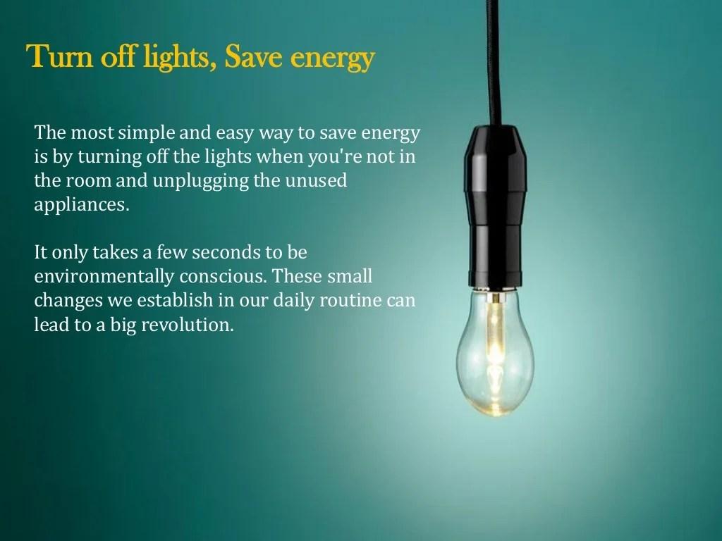 Turn Off Lights Save Energy
