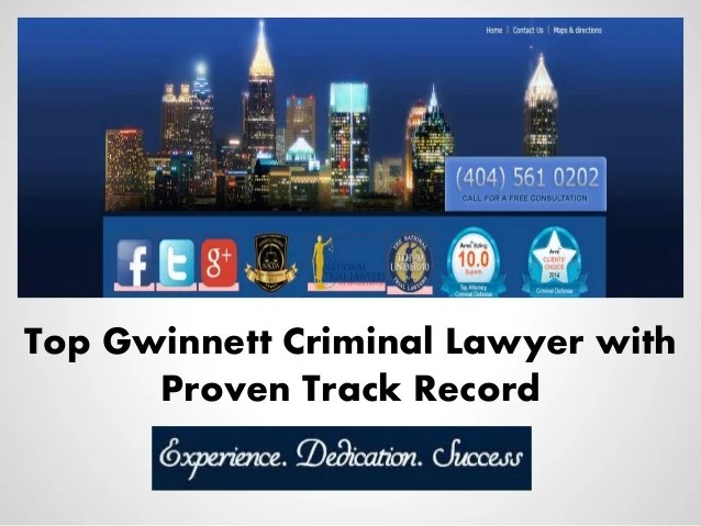 Top Gwinnett Criminal Lawyer with Proven Track Record