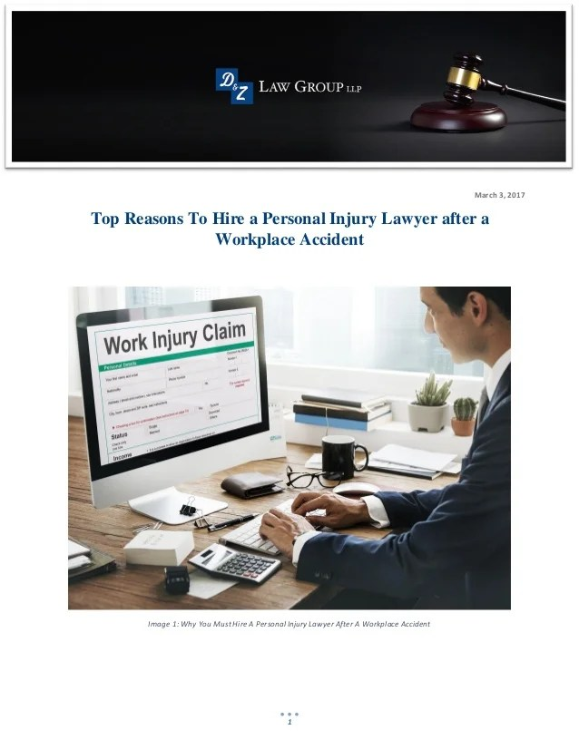 Top Reasons To Hire A Personal Injury Lawyer After A Workplace Accide