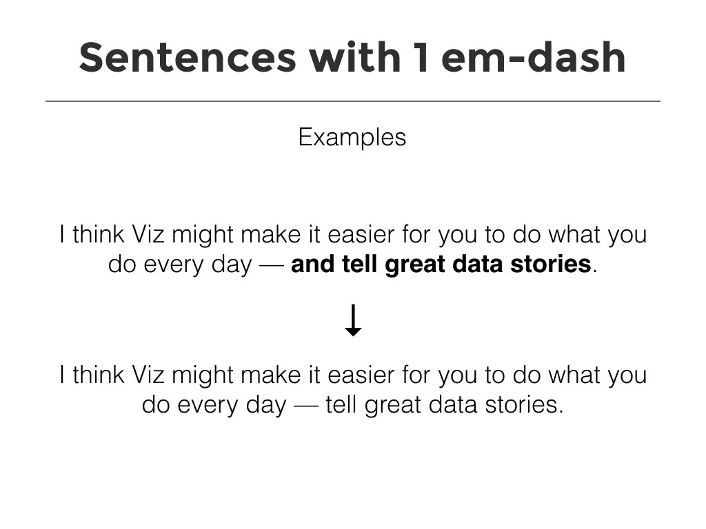 Sentences With 1 Em Dash Examples