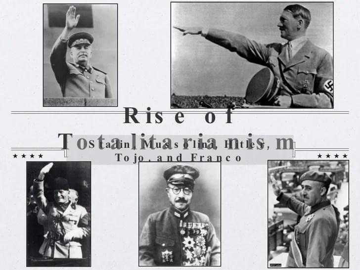 totalitarian leaders