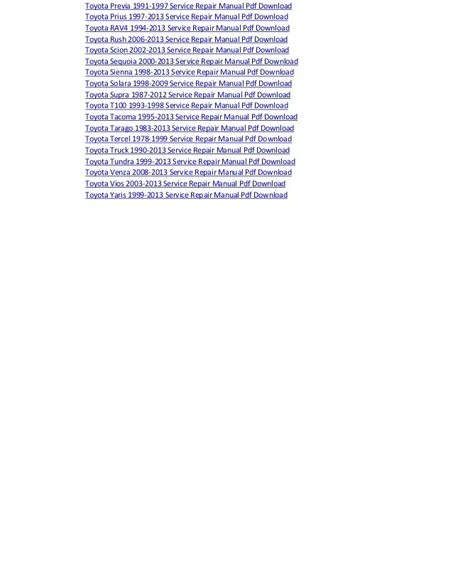 Toyota estima electrical wiring diagram manual pdf download 1990 2013