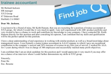 Free Resume 2018 » cover letter trainee accountant examples | Free ...