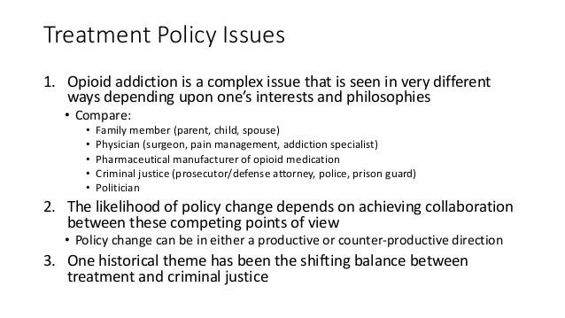 Treatment of opioid addiction. ihi