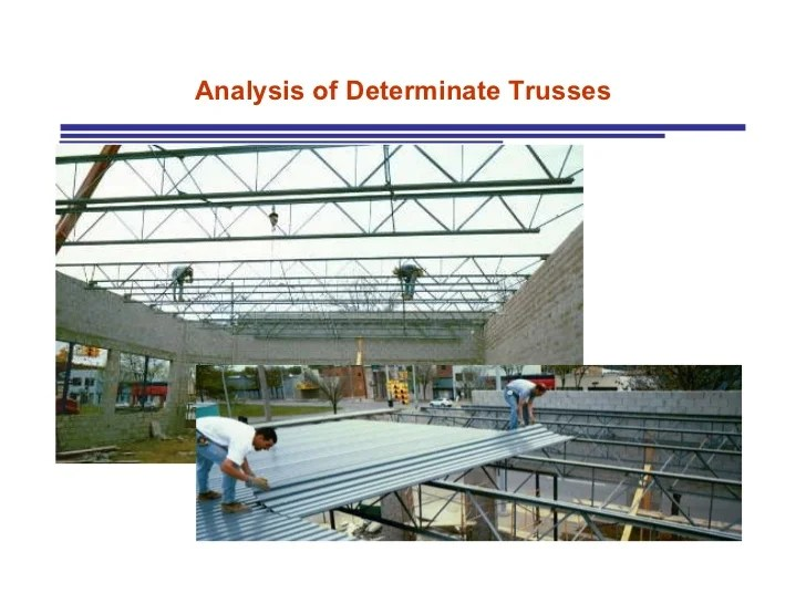 Trusses Analysis Of Statically Determinate