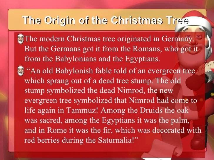 nimrod christmas tree origin