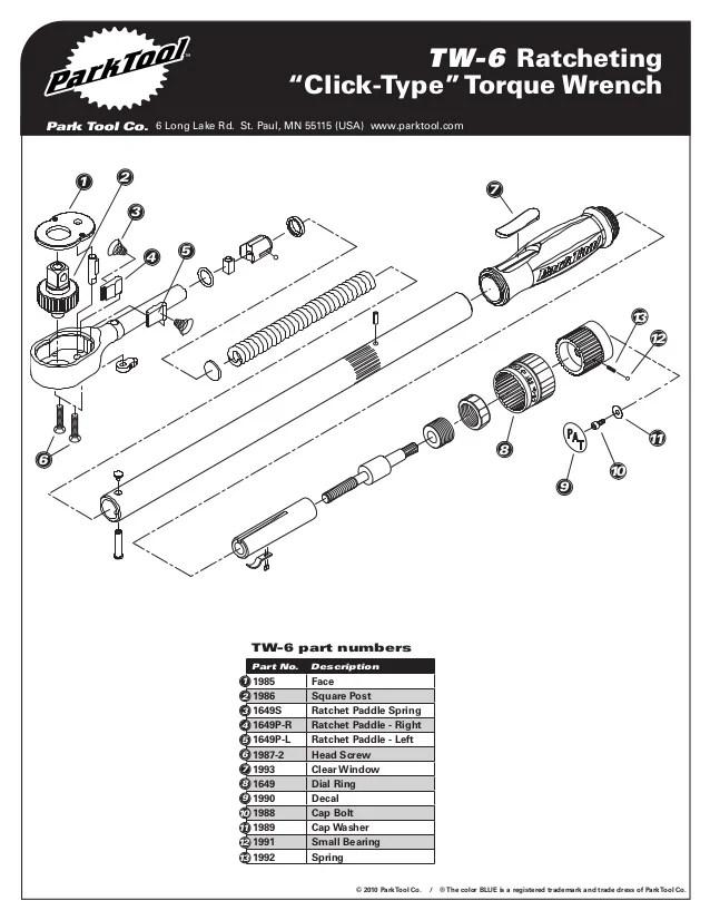 Tw 6 parts diagram