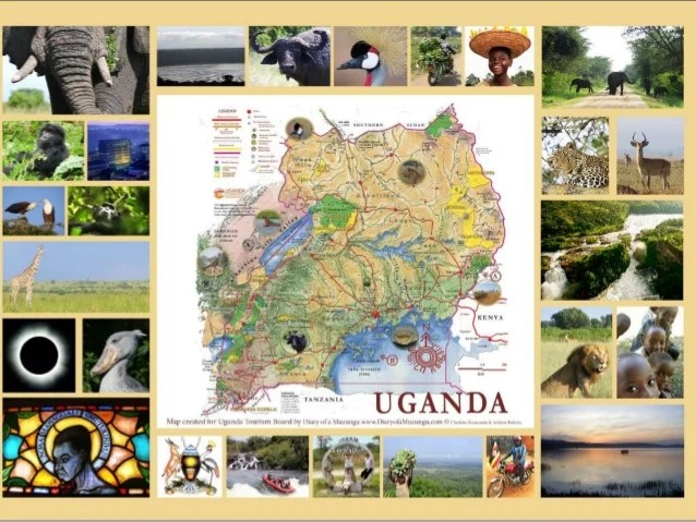 Personalised Uganda photo souvenir maps   safari souvenirs  lodge dec    Introducing Uganda souvenir photo maps     the personal touch     from  Charlotte