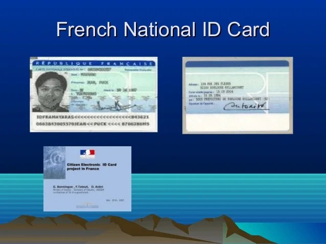Image Result For French National Identity Card