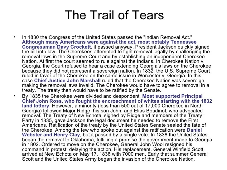 Trail of tears essay infoletter co