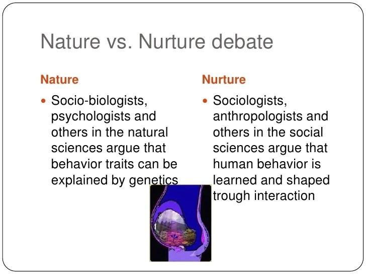 Sociology Nature Vs Nurture Debate