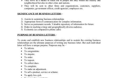 business letters format of business letters and business letter
