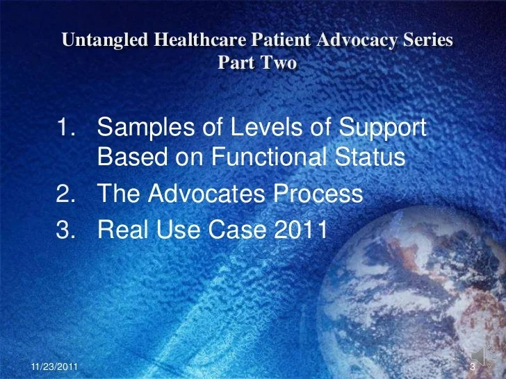 Untangled healthcare lecture series patient advocacy part ...