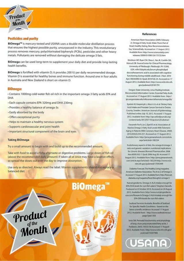 Usana Biomega Fish Oil