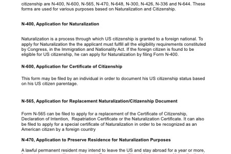 Free Forms 2018 Citizenship Form N Free Forms