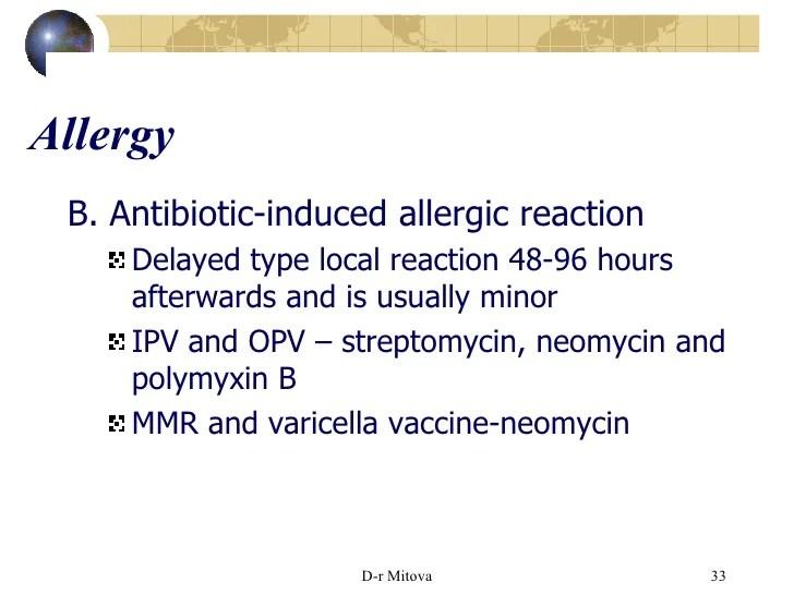 Local Reaction Vaccine