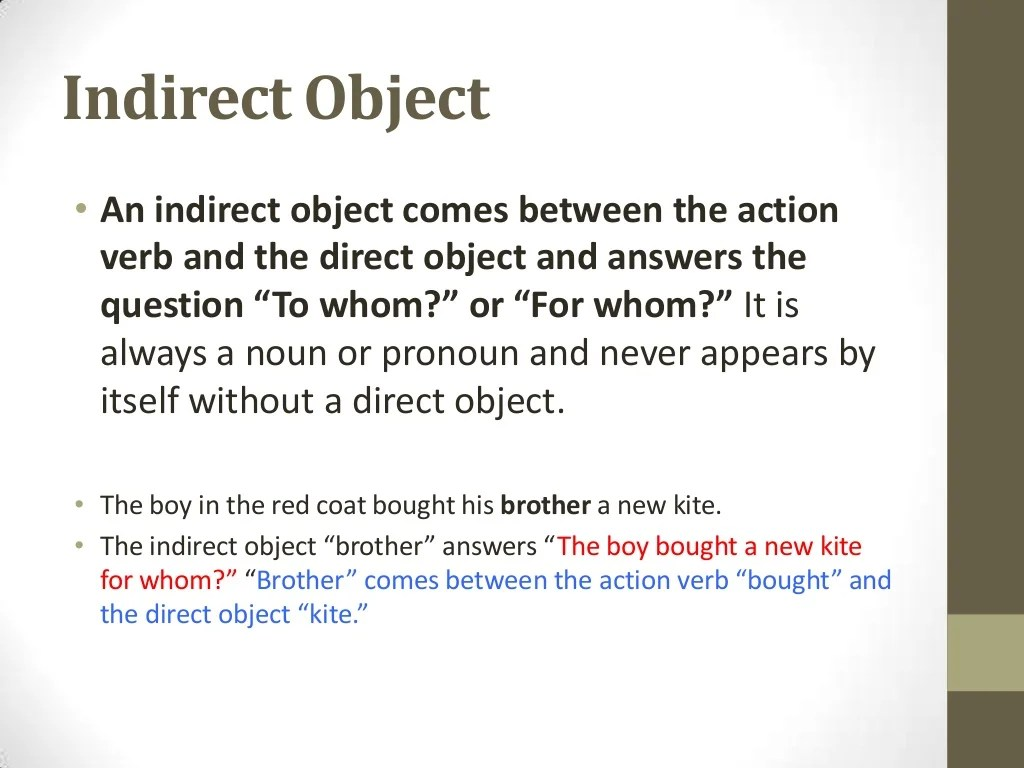 Verbs Objects And Subject Complements