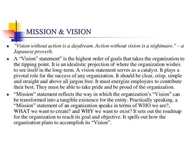 VISION STATEMENT EXAMPLES - alisen berde