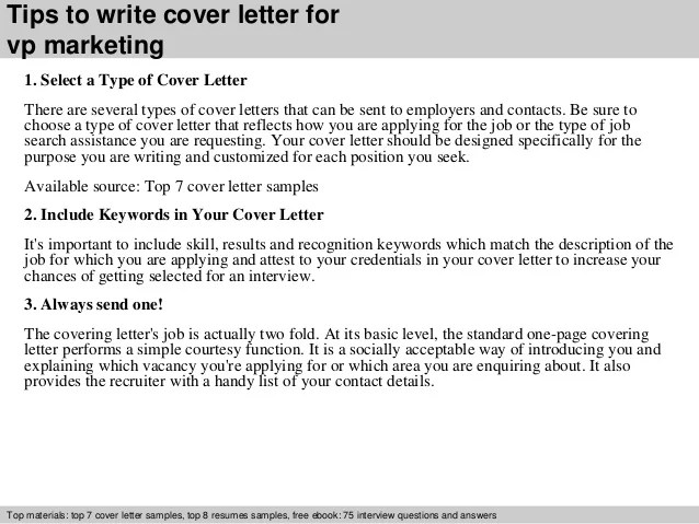 Sample Vp Cover Letters