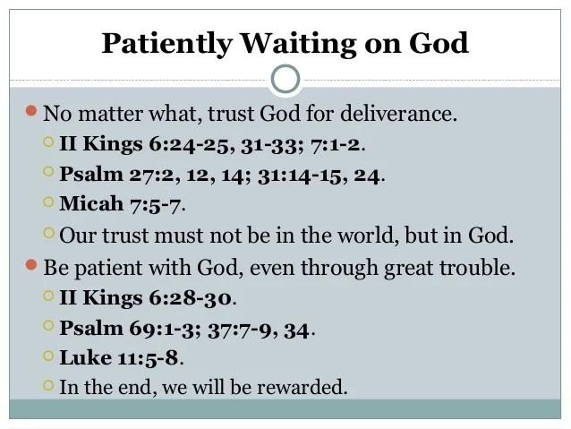 Waiting On God 1 19 2014
