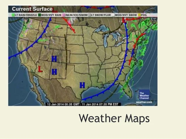 Symbols Map Weather Us Current