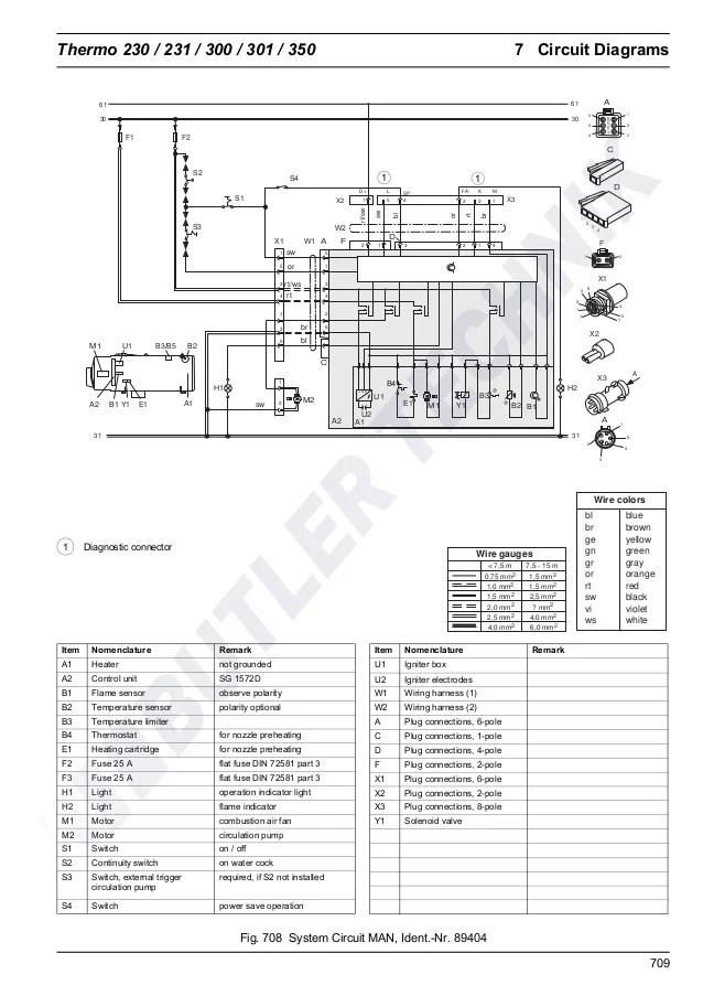 Webasto Thermo 230300350 Workshop Manual