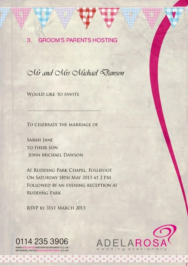 wedding invitation wording adelarosa