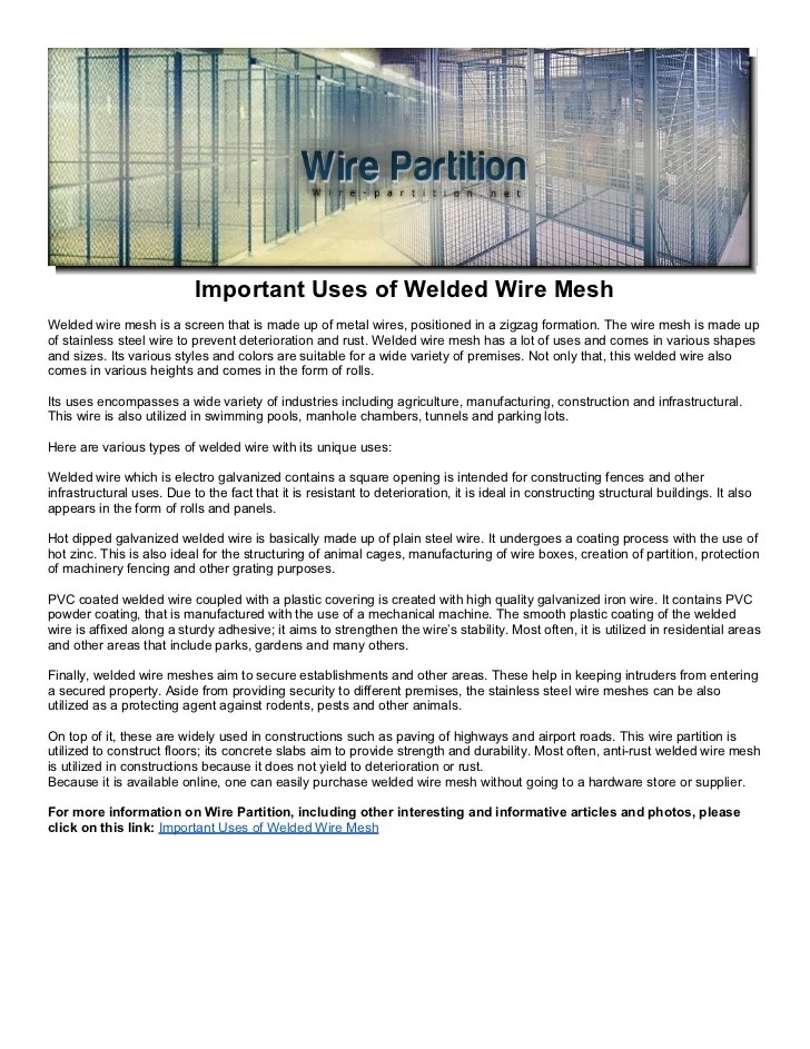 Outstanding Concrete Wire Mesh Sizes Chart Photos - Everything You ...