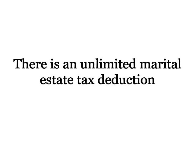 Estate Tax Marital Deduction