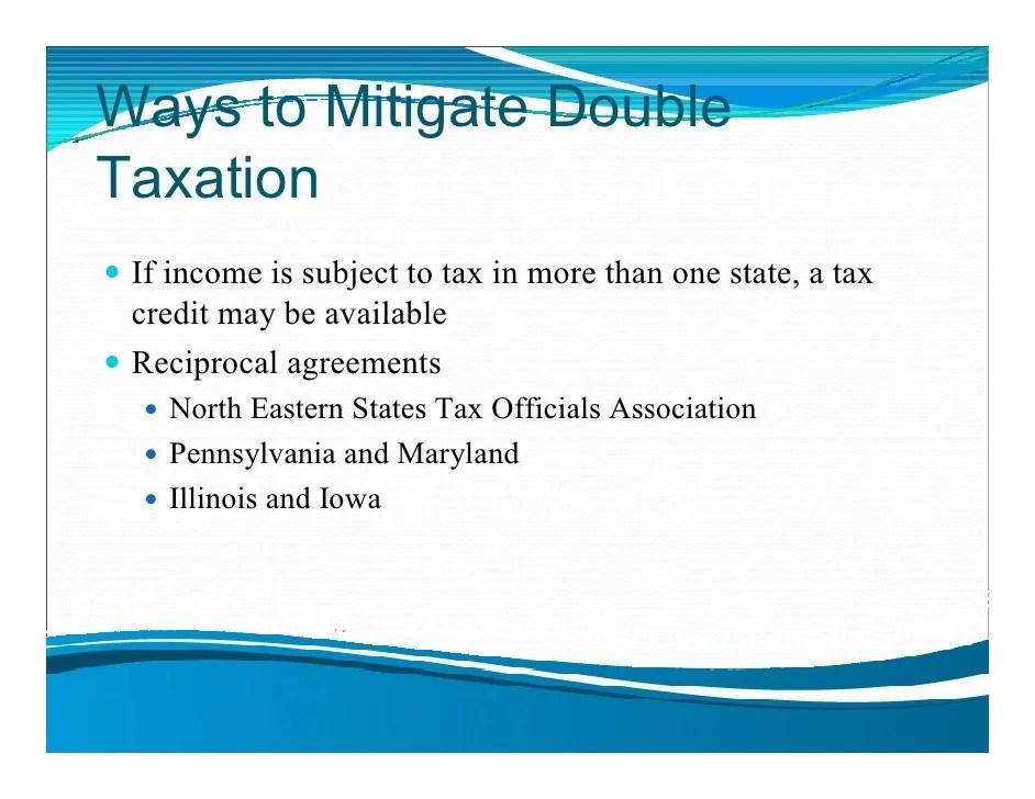 All States Tax Reciprocity
