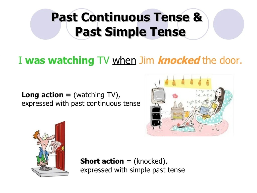 When While Past Continuous Tense Amp Past Simple