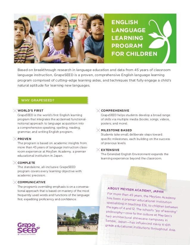 Why choose GrapeSEED English Learning Program for Early ...