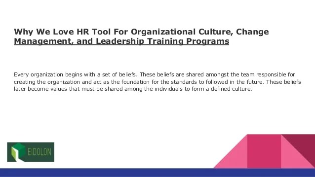 Why We Love HR Tool For Organizational Culture, Change ...