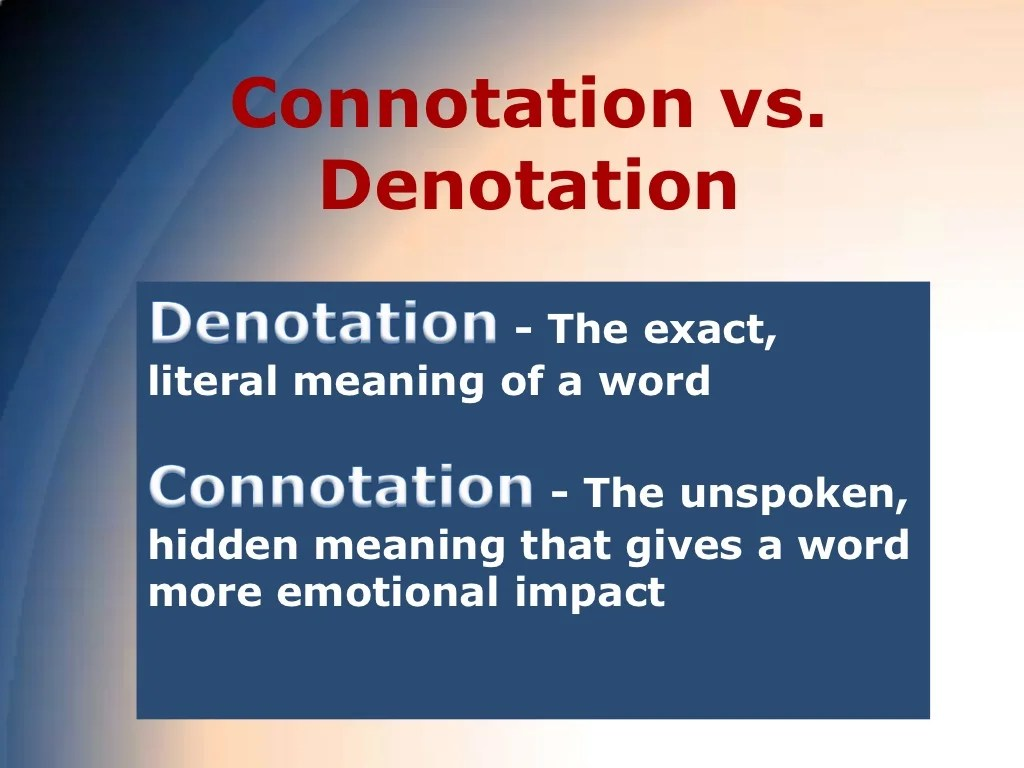 Word Choice Diction And Connotations