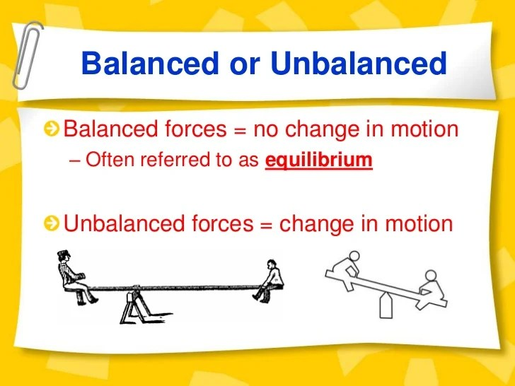 Examples Of Force And Motion
