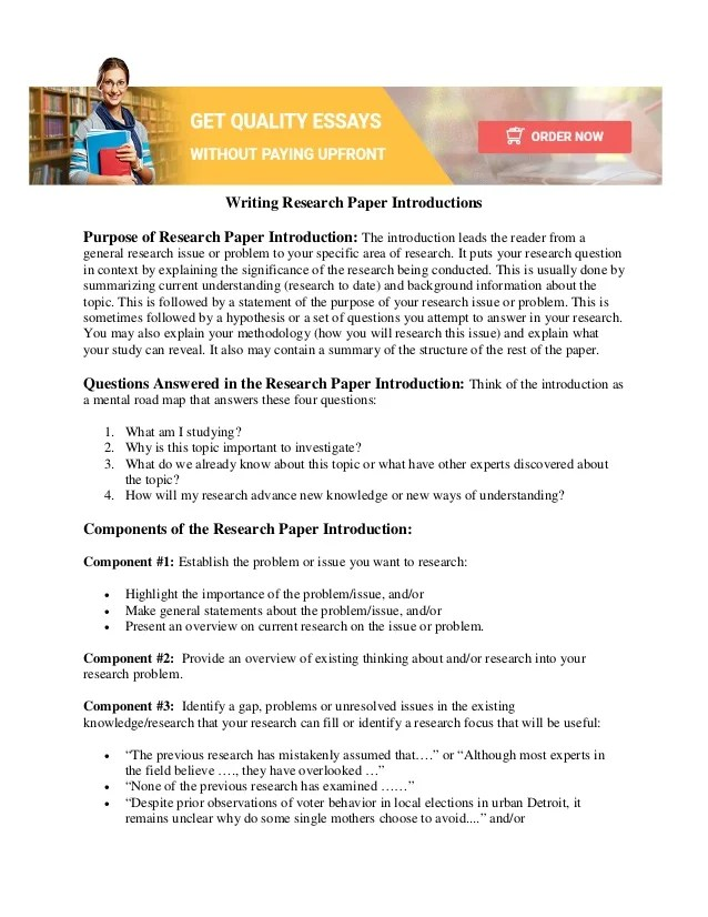 How to Write research paper introduction