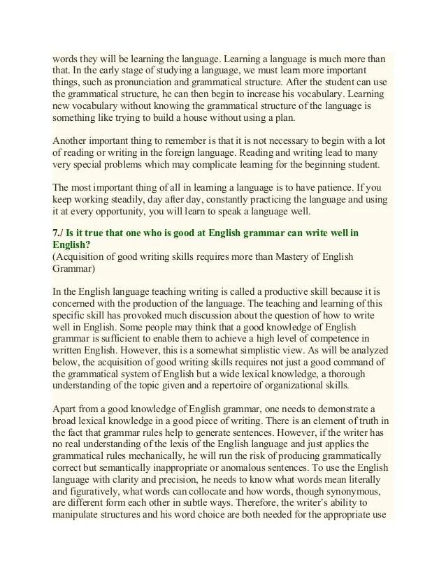 essay on english language learners