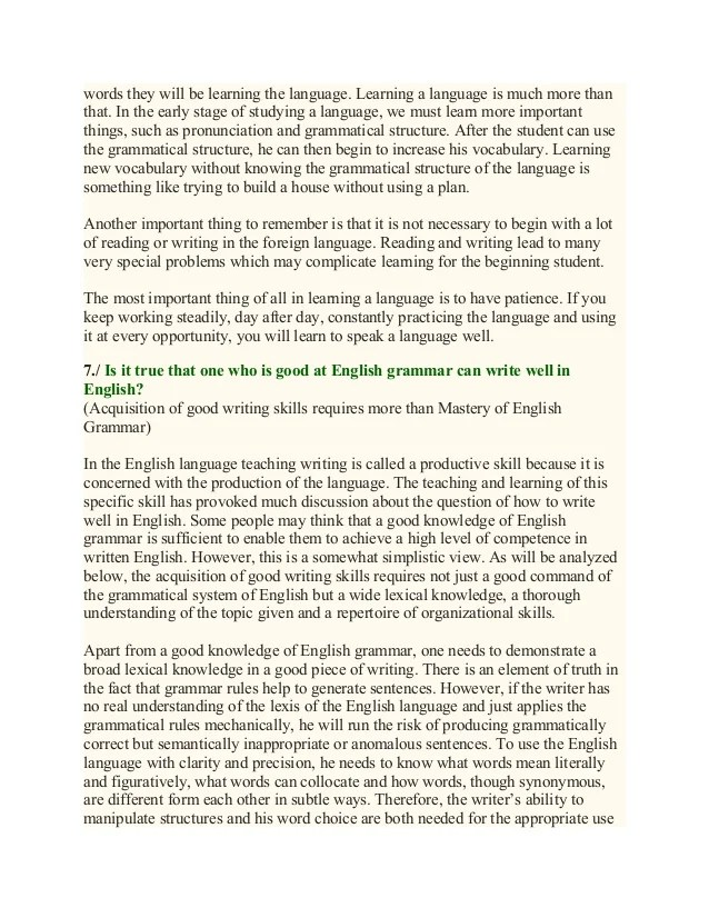 essays on english language learners English/language arts  (and usually as readers and learners in a study area)  best practices in teaching writing 4 write in the middle.