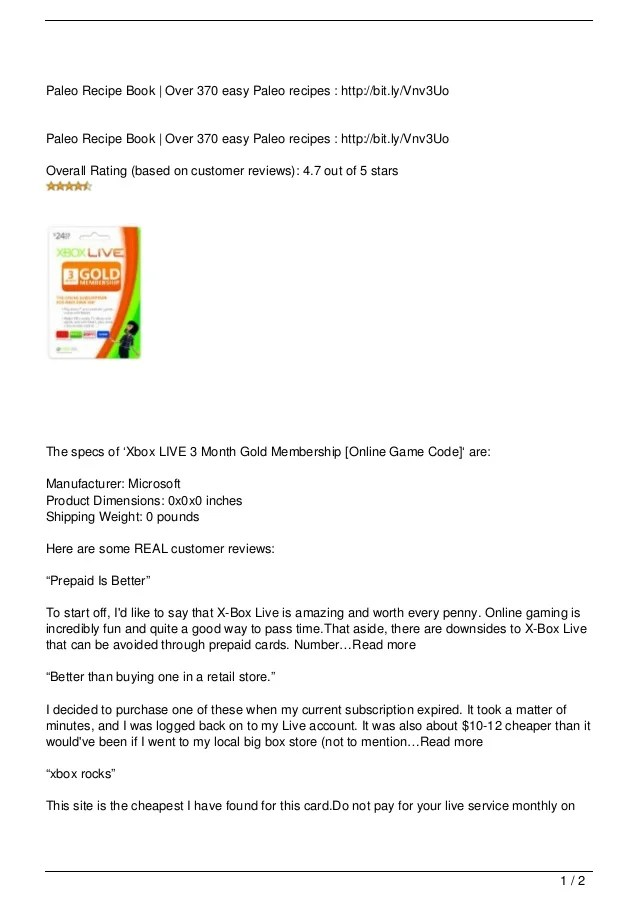 Xbox LIVE 3 Month Gold Membership Online Game Code Cheap