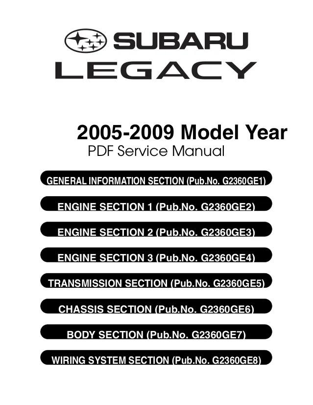 2005 subaru outback 3 service repair manual