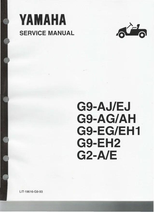 yamaha g9ah golf cart service repair manual