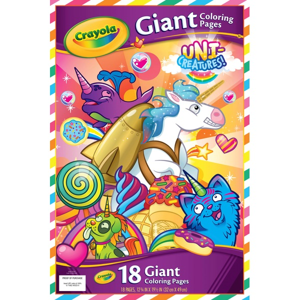 crayola unicreatures giant colour book  crayola