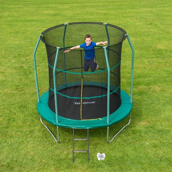 trampolin 244 cm mit sicherheitsnetz von techsport smyths toys superstores