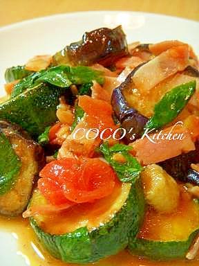 夏野菜を食べよう!!☆冷製ラタトゥイユ