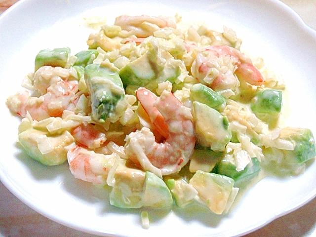 時短サラダ!海老とアボカドのマヨドレサラダ♪
