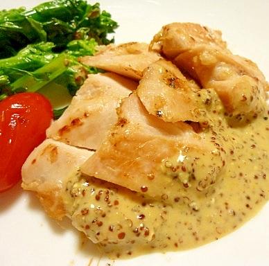 塩麹とマスタードソースで、ご馳走鶏むね肉!