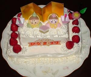 ひな祭りのケーキ