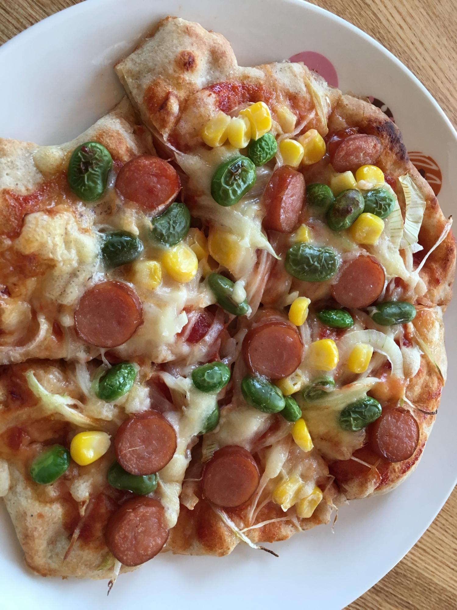 ホットケーキミックスで簡単ピザ