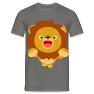 Men's Classic T-Shirt - T-Shirts Hi! Cute Playful Cartoon Lion Cheerful Madness!! T-Shirts