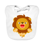 Baby Organic Bib - Accessories Hi! Cute Playful Cartoon Lion Cheerful Madness!! Accessories
